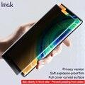 Imak конфиденциальная Гидрогелевая пленка с поддержкой ультразвукового распознавания отпечатков пальцев для Huawei Mate 30 Pro мягкая Взрывозащище...