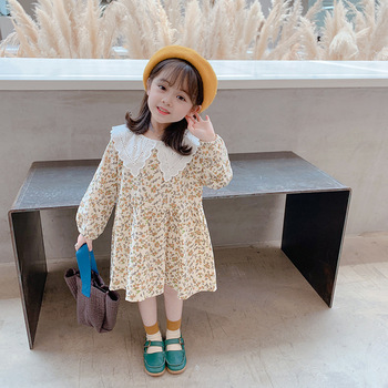 Children Baby Dresses For Girls 2020 Autumn Embroidery Toddler Baby Girls Dress Children Cute Kids  Dress Fall Clothing real leather boss chair can lie high grade massage computer chair home office chair real wood swivel chair 08