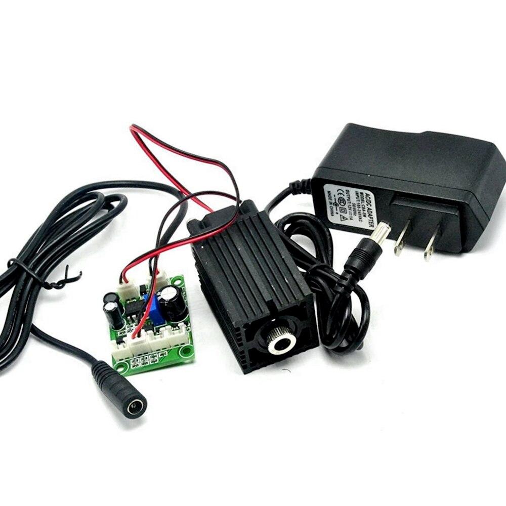 100 нм МВт синий/фиолетовый лазерный точечный модуль 12 В с драйвером и TTL 0-20 кГц долгое время работы