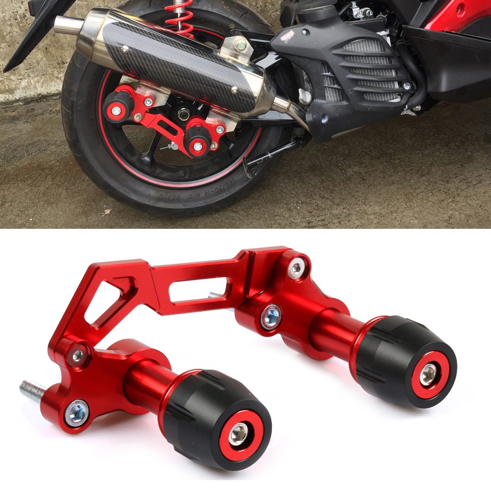 Universal Motorcycle silencer Wheel Slider Crash Anti fall protector For <font><b>Yamaha</b></font> Nmax155 xmax300 forza NVX155 pcx150 <font><b>125</b></font> image