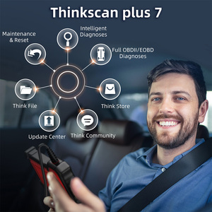 Image 2 - THINKCAR Thinkscan Plus S7 OBD2 Scanner TPMS Oil DPF Throttle Reset Airbag  BCM ECM TCM IC AC ABS System Car Diagnosis Scanner