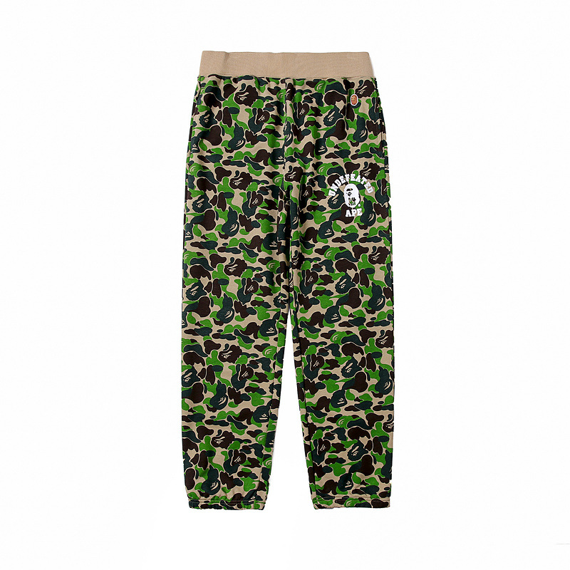 Japanese-style Popular Brand Cool Camouflage Pure Cotton Looped Fabric Beam Leg Casual Trousers Fashion Screenshot Star Celebrit