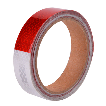 25MMX3M Red White Yellow Micro Prismatic Sheeting Reflective Tape Stickers Bike Reflector Stickers Bicycle Light Reflectors Tape 12