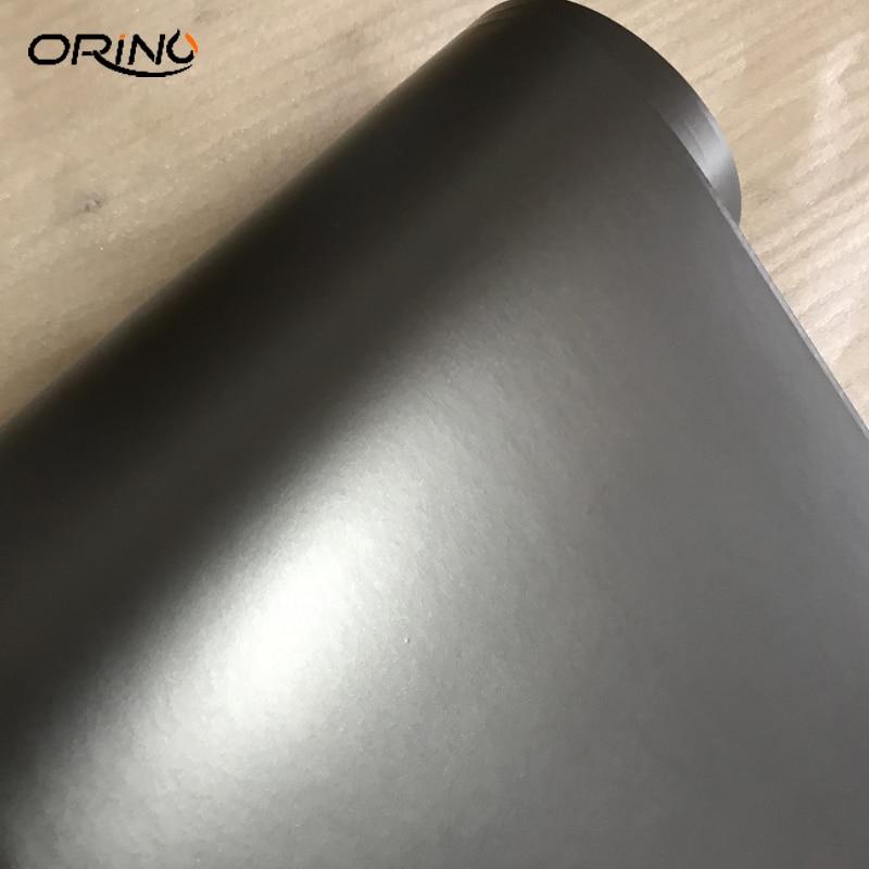 Premium Gunmetal Metallic Matte Grey Vinyl Wrap with Air Release Dark Gray Anthracite Car Wrap Foil size 10/20/30/40/50X152CM