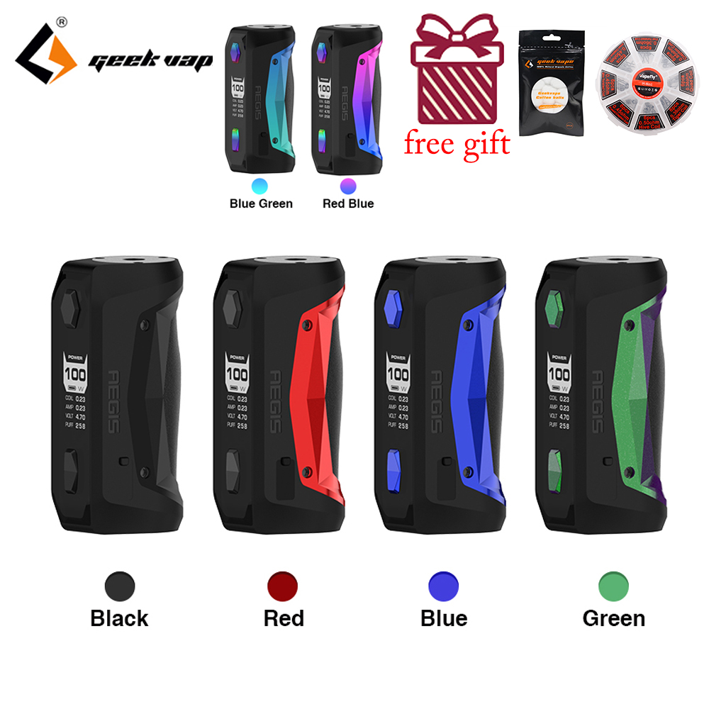 GeekVape Aegis Solo Mod Waterproof E Cigarette Fit Cerberus Subohm Tank Tengu RDA By Single 18650 VS Aegis Mini Mod