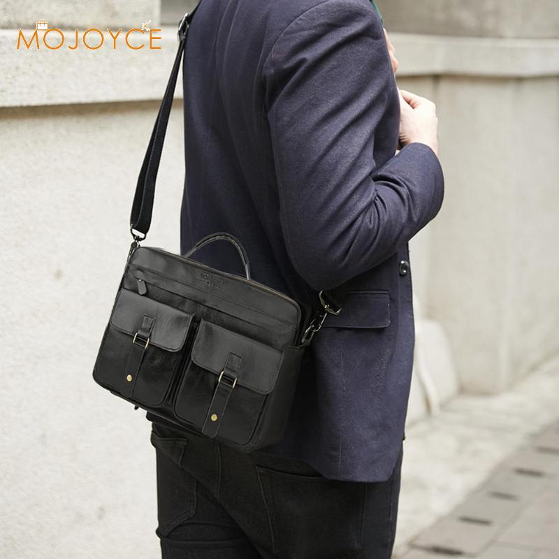 Leather Briefcase Mens Genuine Leather Handbags Crossbody Bags Men's High Quality Luxury Business Messenger Bags Handbags