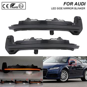 For Audi TT(8S)  TTRS(8S) R8 2016-2018 Smoked LED Dynamic Side Mirror Blinker Light Turn Signal Lamp 2X