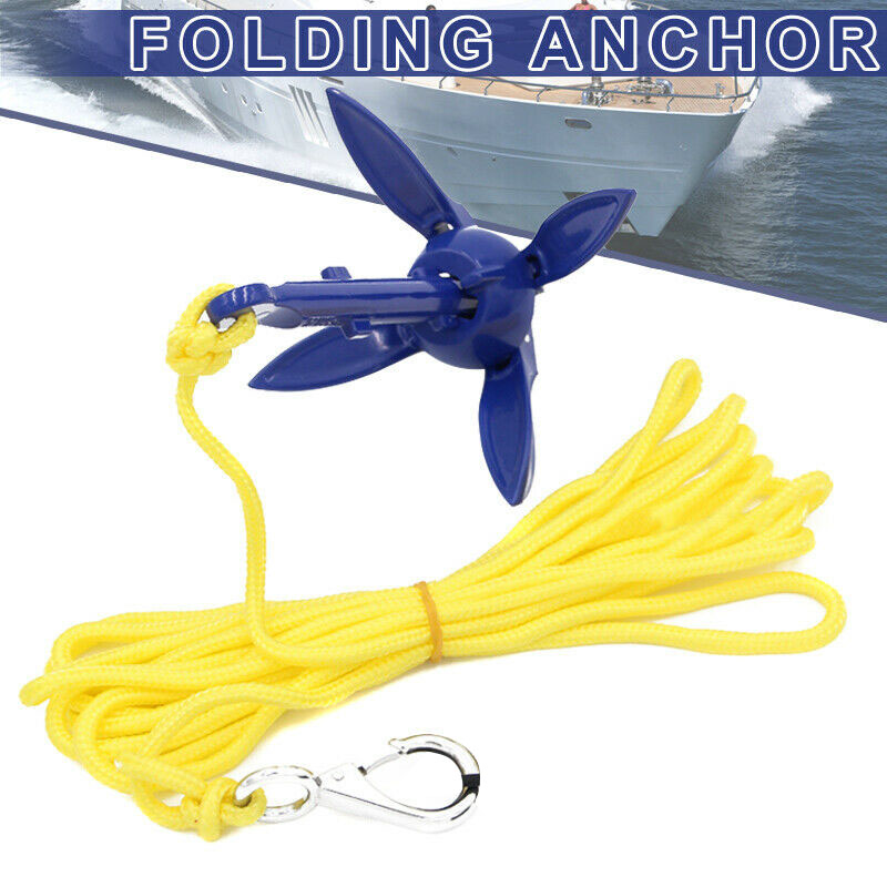 Audacious 4-tine R Owing Boats Folding Anchor Small Boat Anchor Marine Rope Kit For Kayak Canoe Boat Marine Sailboat Watercraft Structural Disabilities