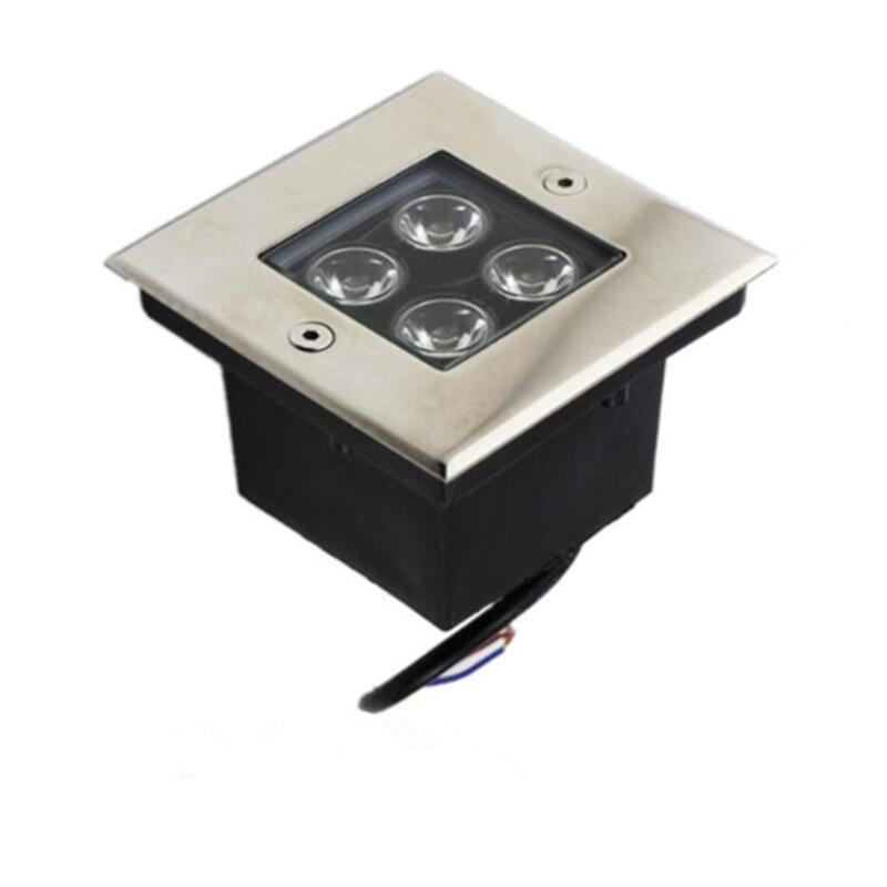 IP68 Waterproof LED Underground Light 4W Outdoor Ground Garden Path Floor Buried Yard Spot Landscape 110V220V 12V