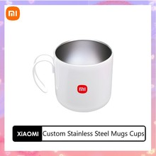 Xiaomi ステンレス鋼のマグカップ,詰め替え可能な白,お茶,ダイブ,ホットコールド,旅行,結婚式,新しいコレクション,2021