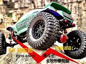 Image 2 - 2 4Pcs 1.9 Inch 125mm 1/10 Rock Crawler Rubber Tires for D90 TRX 4 Defender TRX6 G63 SCX10 II AXIAL 90046 TF2 RC Car Accessories