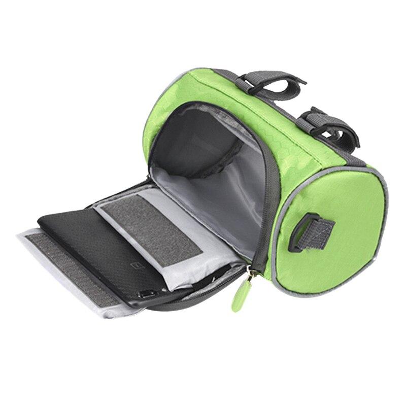 Outdoor Bicycle Handlebar Bag Mountain Bike Press Screen Mobile Phone Head Bag Outdoor 5L Multifunctional Portable Waterproof Ba|Bicycle Bags & Panniers| |  - title=