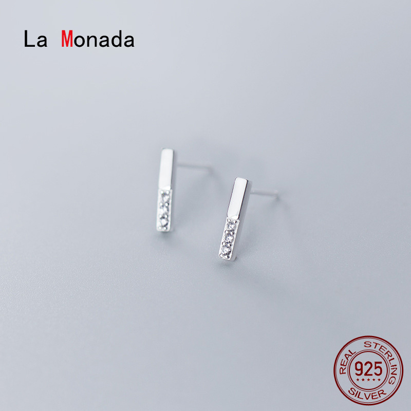 La Monada Earings Studs 925 Sterling Silver Fine Jewelry Minimalist Beautiful Stud Earrings For Women Silver 925 Korean G3491