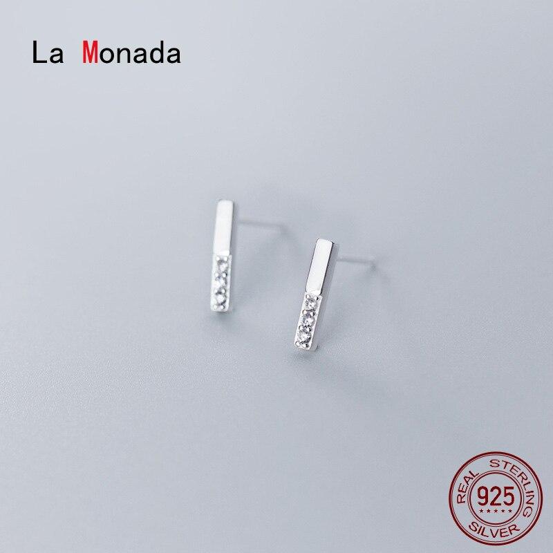 La Monada Earings Studs 925 Sterling Silver Fine Jewelry Minimalist Beautiful Stud Earrings For Women Silver 925 Korean G3491