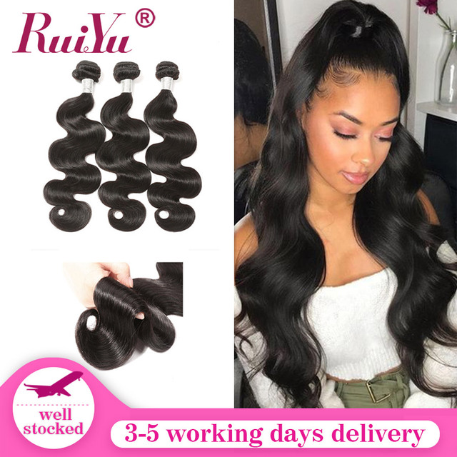 Peruvian Human Hair Bundles Body Wave bundles 8 28 Inch 1/3/4 Bundles Natural Color Remy Hair Extensions RUIYU Hair