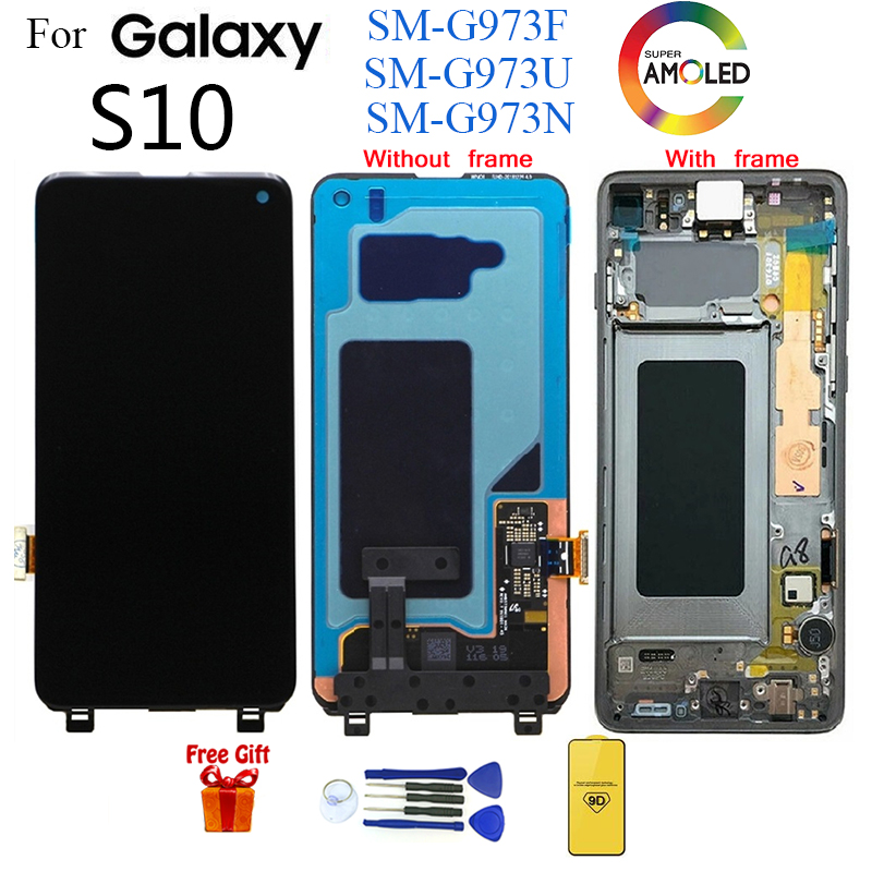 AMOLED For <font><b>SAMSUNG</b></font> <font><b>S10</b></font> G973 SM-G973F Display <font><b>LCD</b></font> <font><b>Screen</b></font> replacement for <font><b>samsung</b></font> Galaxy <font><b>S10</b></font> SM-G973U G973N <font><b>lcd</b></font> display module image