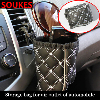 Portable Car Air outlet Glasses Key Pen Storage Bag For Ford Focus 2 3 VW Passat B6 B5 B7 B8 Touran Toyota Avensis Mazda 3 CX-5 image