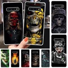 Ruthless Skeleton Custom Photo Soft Phone Case For Samsung S6 S7 S7 edge S8 S8 Plus S9 S9 Plus S10 S10 plus S10 E(lite)