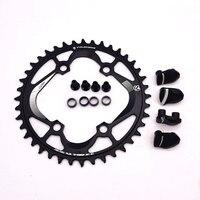 새로운 fouriers mtb 자전거 부품 전체 cnc 만든 단일 속도 chainring 자전거 chainwheel 96bcd xtr m9000 11 속도
