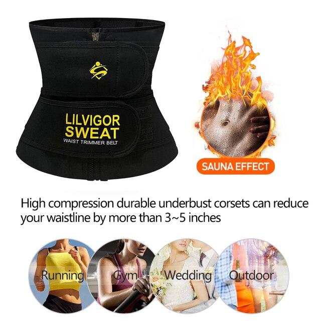 Unisex Hot Neoprene Body Shaper Waist Trainer Belly Control Belt Sauna Slimming Strap Fitness Sweat Shapewear for Fat Burner 4