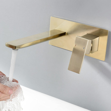 цена на Vagure Chrome Brass Water Mixer Embedded box Basin Faucet Wall Mounted Cold&Hot Single Handle Basin Sink Tap for Bathroom