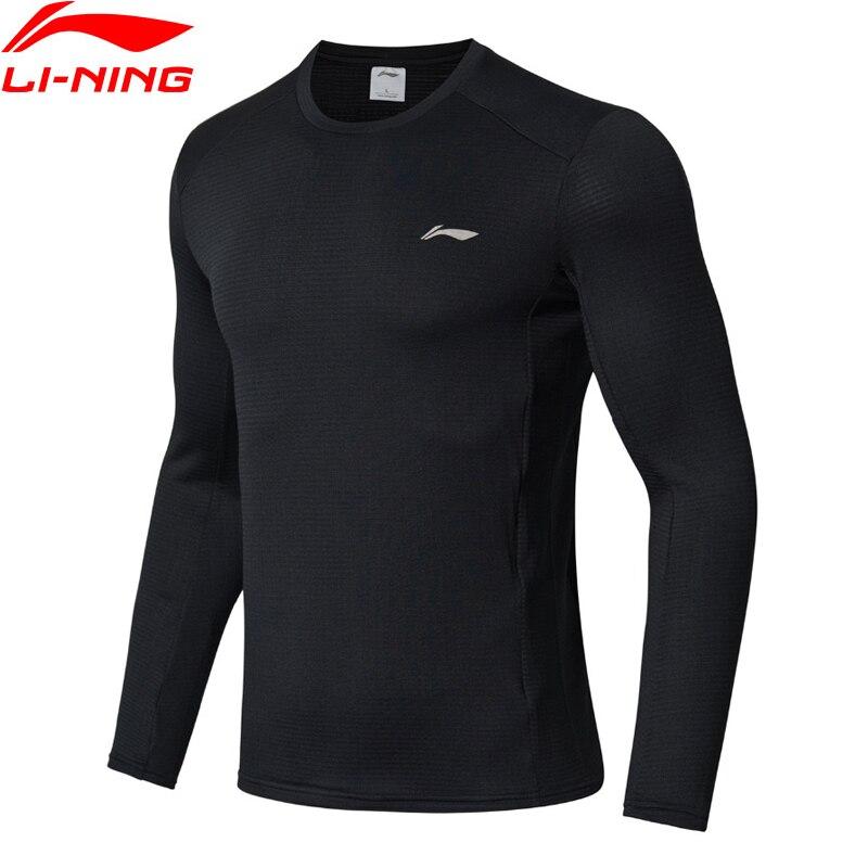 (Break Code)Li-Ning Men Running T-Shirt WARM SHELL 95%Polyester 5%Spandex Regular Fit LiNing Li Ning Sports Tops ATLN141 MTL996