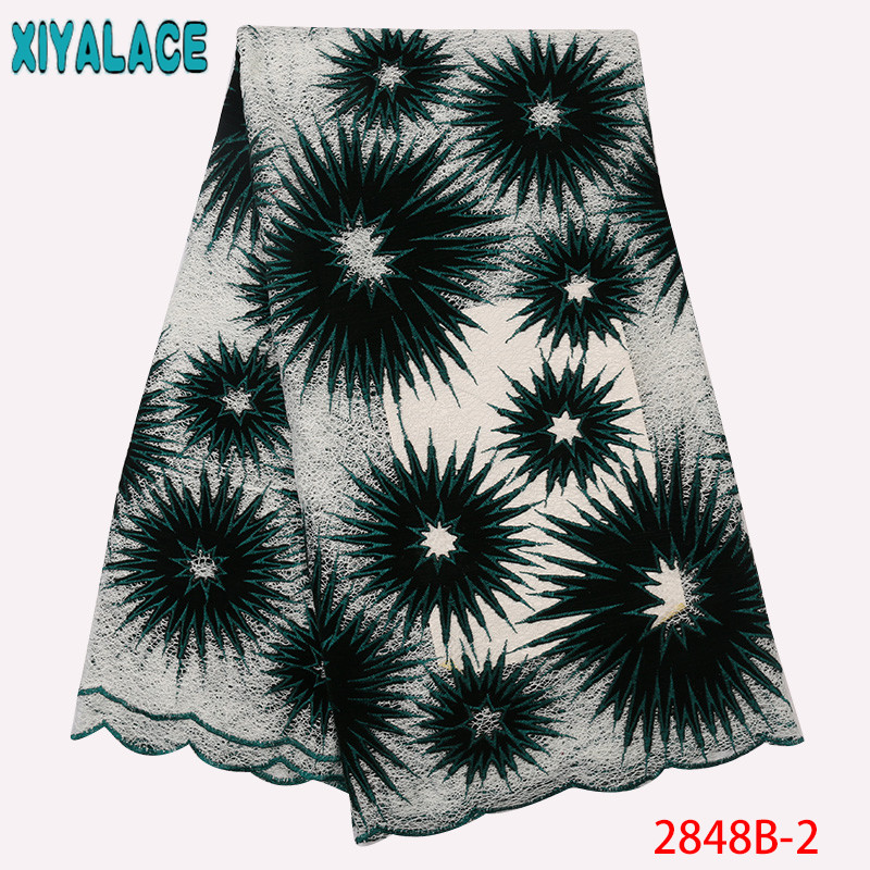 African Velvet Lace Fabrics Hot Sale, Latest African Nigerian Mesh Lace Fabric,French Velvet Fabric Lace For Dresses KS2848B-2
