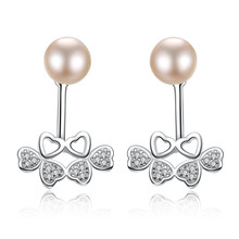 YUEYIN  925 Sterling Silver Earrings Women Natural Pearl Jewelry for Women2018 Stud Bohemian