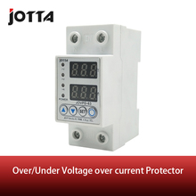 40A/63A 230V Din rail adjustable over voltage and under voltage protective device protector relay with over current protection цены