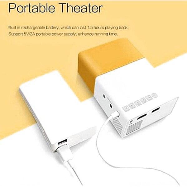projetor mini projetor portatil teatro escritorio em casa hd 1080 p amarelo sp99 04