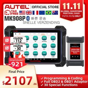 Image 1 - Autel MaxiCOM MK908P MS908P outil de Diagnostic de voiture, Scanner OBD2, programmation ECU J2534, PK Maxisys Elite