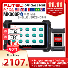 J2534 مبرمج PK Maxisys Elite Autel MaxiCOM MK908P MS908P أداة تشخيص السيارات OBD2 الماسح الضوئي ECU الترميز البرمجة