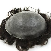 Hstonir super fina pele remy cabelo humano invisível v-loop masculino toupees natural olhando h078