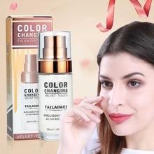 30 мл изменение цвета Жидкая Основа база для макияжа лица тонус кожи телесный SPF 15 увлажняющий консилер тональное средство