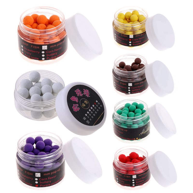 1 Box Carp Floating Fishing Lure Artificial Baits Beads Pops Up Flavor Smell Ball