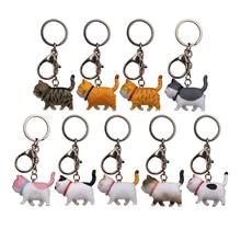 1Pcs Women KeyRing Car Trinket Couple Key Chains Kids Toy Key Ring Charms Pendant Cat Key Chain Car Bag Keychains Creative Gift