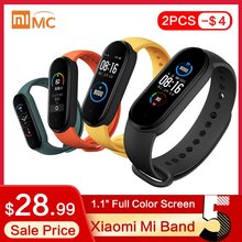 "Originele Xiaomi Mi Band 5 Smart Armband 4 Kleur 1.1 ""Amoled Screen Hartslag Fitness Tracker Bluetooth 5.0 Waterdicht miband5(China)"