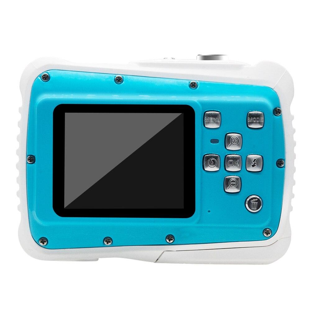 2.0 pouces natation dessin animé HD 8X Zoom étanche numérique enfants caméra Flash cadeau d'anniversaire vidéo LCD affichage photographie en plein air