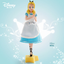 Disney genuína 18cm princesa cinderela neve branca bola caneta figura de ação decoração pvc coleção estatueta brinquedos para crianças presentes