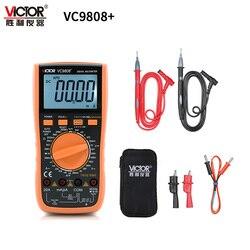 VICTOR VC9806 + VC9808 + 3 1/2 True RMS multimètre numérique 1000V 20A DC ampèremètre voltmètre Inductance testeur de fréquence mètre