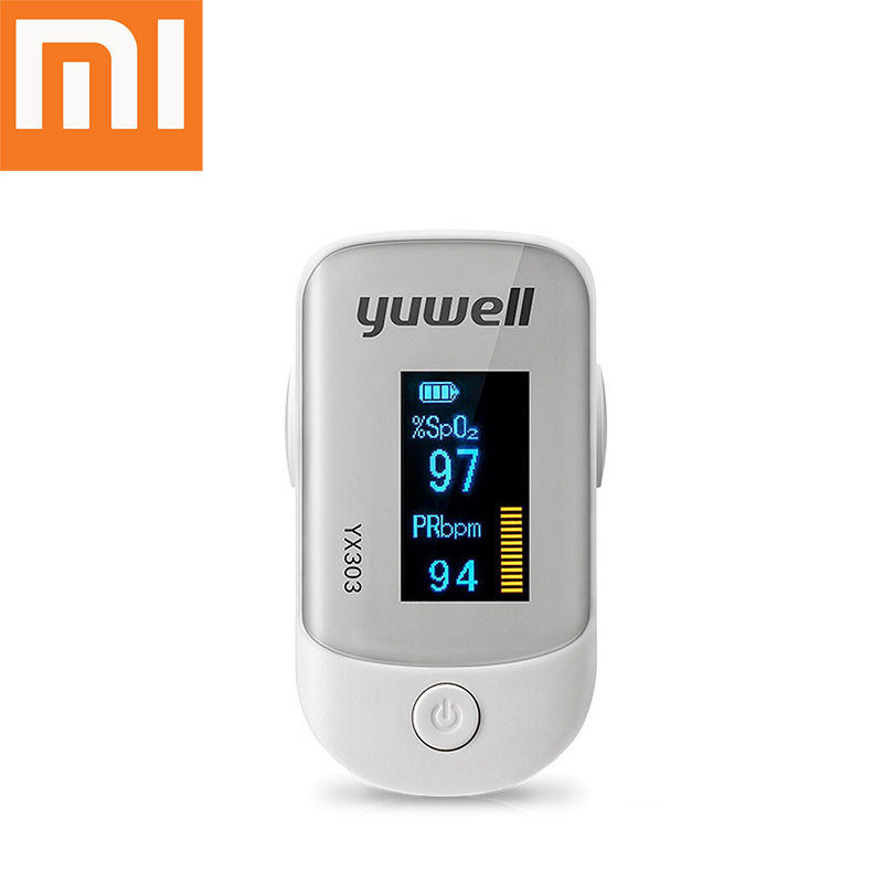 Xiaomi original blood oximeter smart fingertip pulse care high-speed sensor digital LED display heart rate health monitor