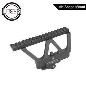 Rápido separar AK arma carril lateral punto rojo montaje alcance para AK 47 AK 74 caza Airsoft Rifle Base de accesorios Picatinny