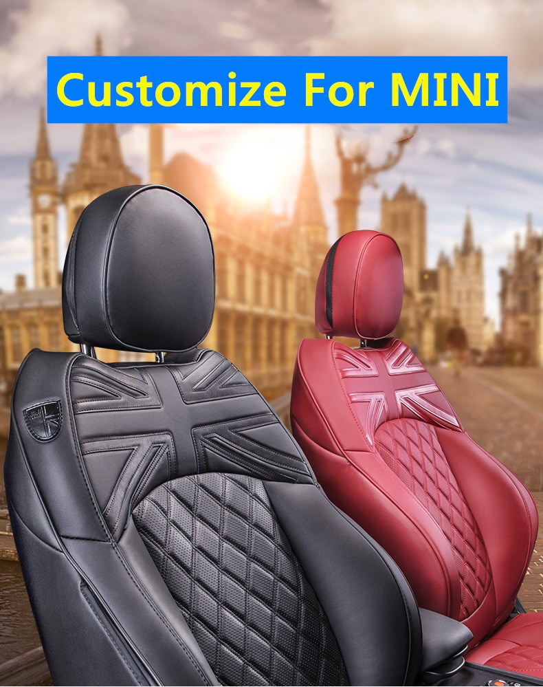 Car Seat Covers For BMW MINI Cooper Custom-made Model Wholesale Waterproof Leather Auto Seat Protector Accessories