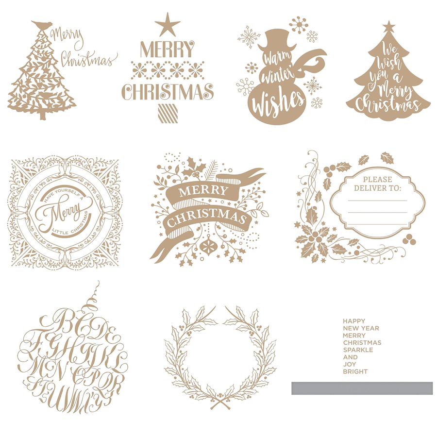 Novel Christmas Decorations Trees Hot Foil Plates For Scrapbooking DIY Paper Cards Crafts New 2019