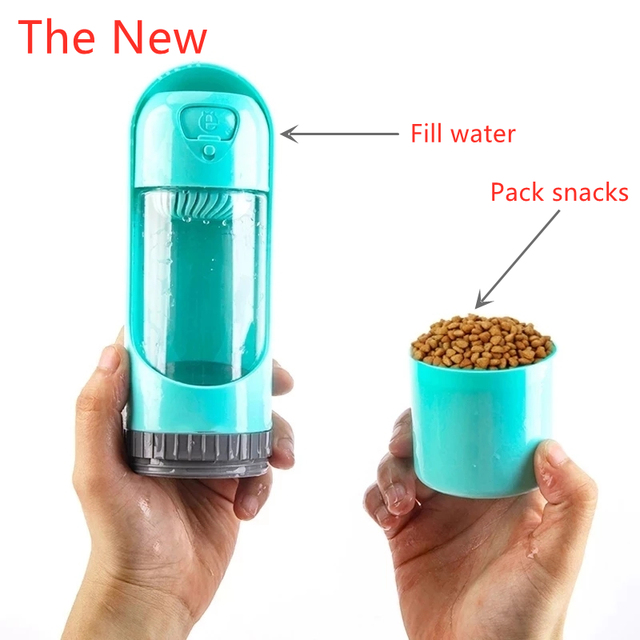 2021 Portable Pet Dog Water Bottle 300ml Drinking Bowl for Small Medium Large Dogs Feeding Water Dispenser Dogs Outdoor Bottles 5