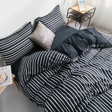 بلون المشارب الفاخرة طقم سرير أبيض وأسود اللون حاف مجموعة غطاء سوبر لينة غطاء سرير مجموعة 220X240