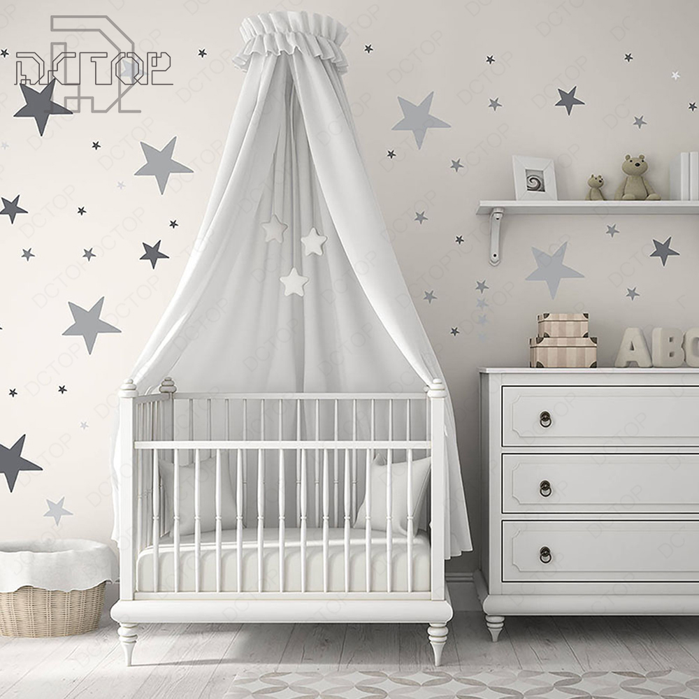 Colorful Stars Polka Dots Vinyl Sticker Room Decor Art Murals Removable Waterproof Wallpaper Home For Wall Nursery Baby DCTOP