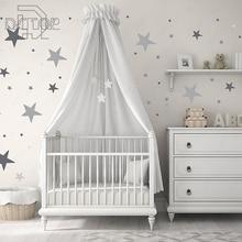 Estrellas de colores Polka Dots vinilo pegatina decoración de habitación arte murales papel tapiz impermeable extraíble hogar para pared guardería bebé DCTOP