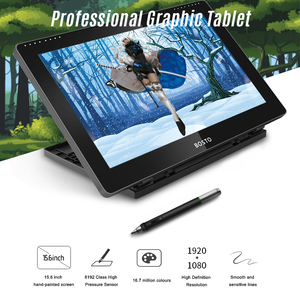 Image 2 - BOSTO BT 16HDT แบบพกพา 15.6 นิ้ว H IPS LCD กราฟิกแท็บเล็ตดิจิตอลศิลปะกราฟิกแท็บเล็ต 8192 Leverls ความดัน