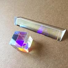 Оптическая Цветовая Призма Шестигранная яркая K9 Радужный стеклянный кубик большой размер хрустальные линзы инструмент для обучения фотосъемке